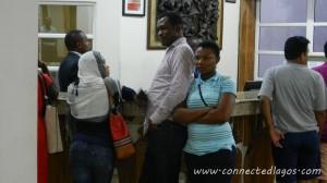 Faith, Segun & Tina negotiating night rates for us