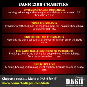 Dash 2015 Charities