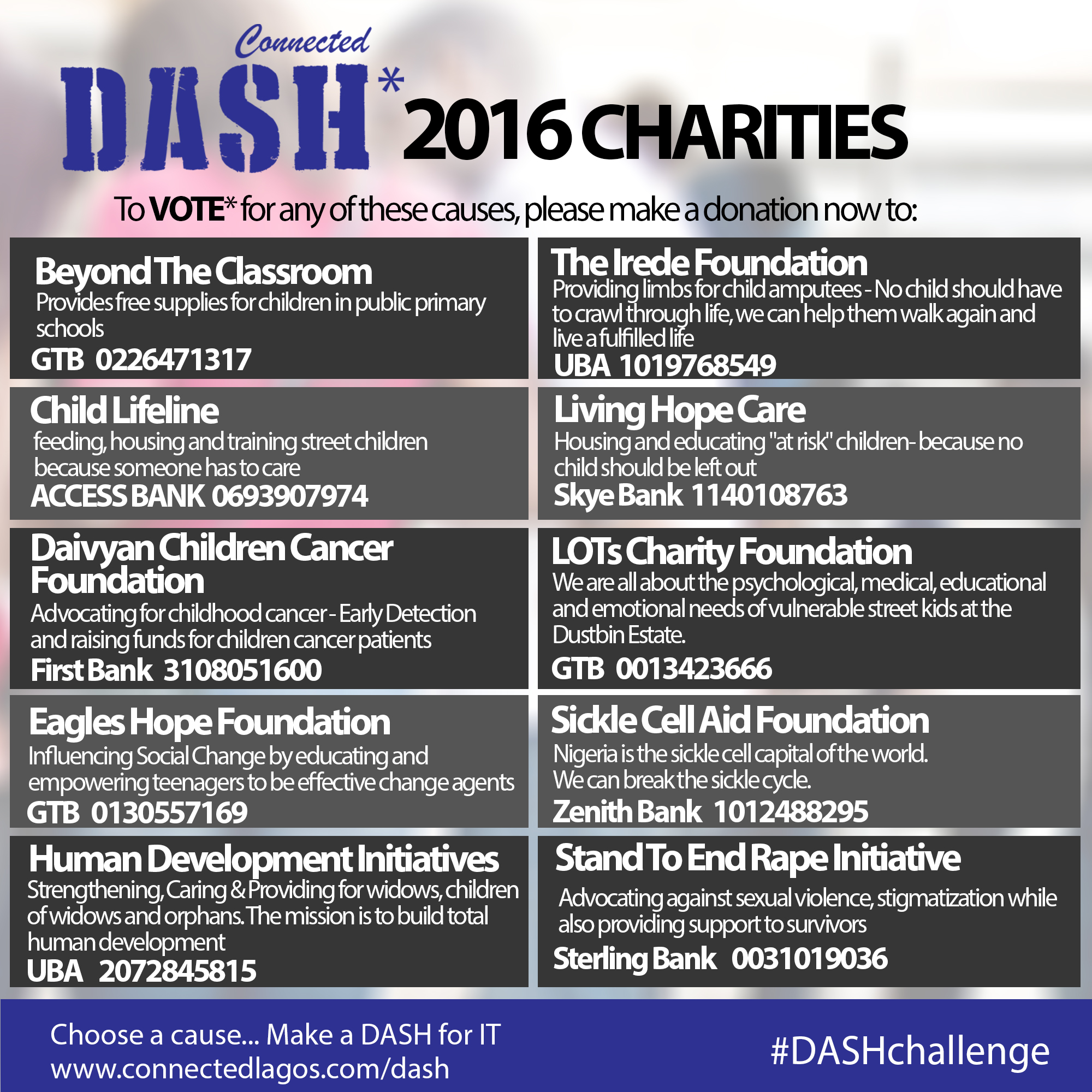 Connected DASH Charities